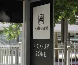 Rideshare Zone at Airport