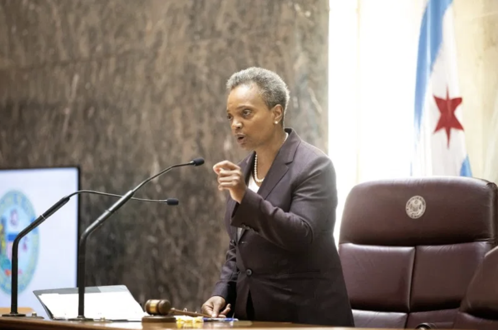 Mayor Lori Lightfoot of Chicago